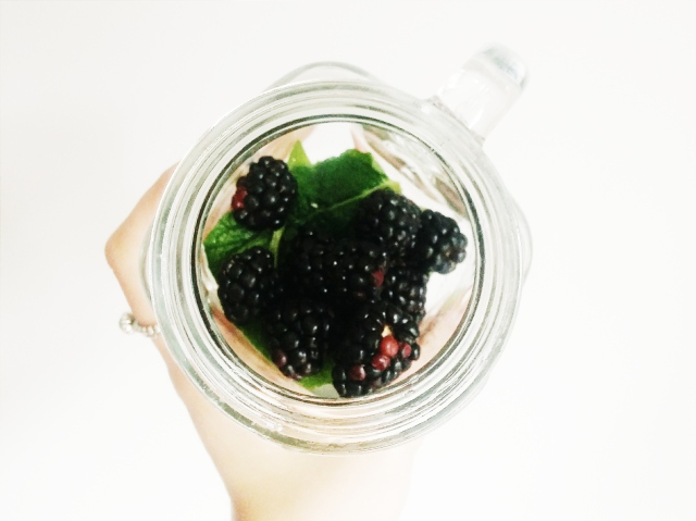 Blackberry MInt Water Recipe perfect for summertime