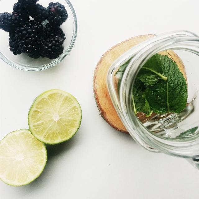 Ingredients for my Blackberry Mint Fun Water Recipe - on www.creativewifeandjoyfulworker.com