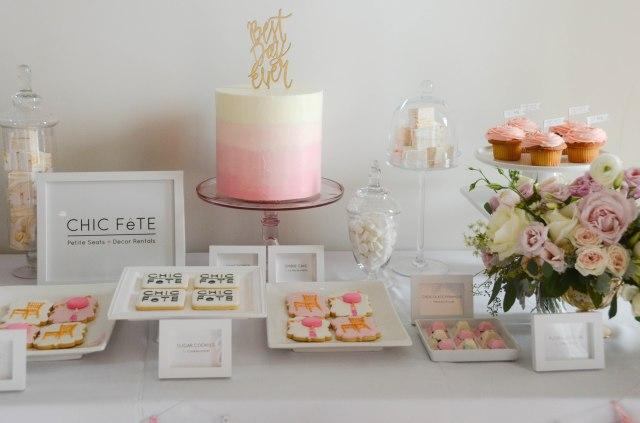 Chic Fete party decor - cindy confetty sparkle cake topper